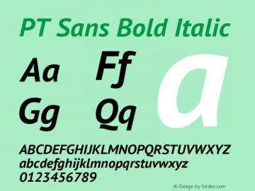 PT Sans Bold Italic Version 2.005; ttfautohint (v1.4.1) Font Sample