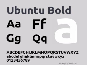 Ubuntu Bold Version 0.80; ttfautohint (v1.4.1) Font Sample