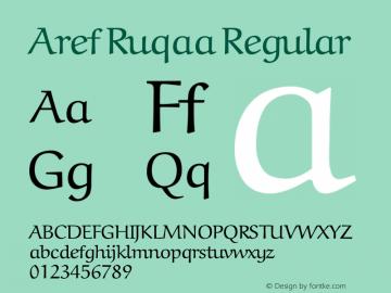 Aref Ruqaa Regular Version 0.6 Font Sample