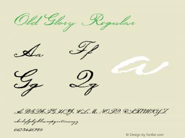 Old Glory Regular Macromedia Fontographer 4.1.5 12/11/01 Font Sample