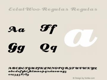 EclatW00-Regular Regular Version 1.30图片样张