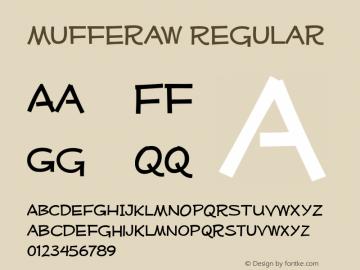 Mufferaw Regular Version 1.0; 2000; initial release Font Sample