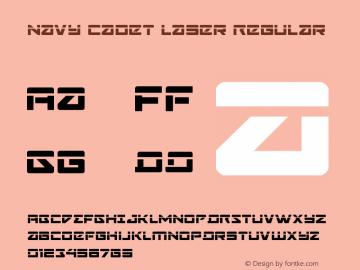 Navy Cadet Laser Regular Version 1.0; 2015 Font Sample