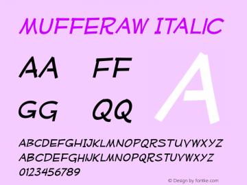 Mufferaw Italic Version 2.201 2004 Font Sample