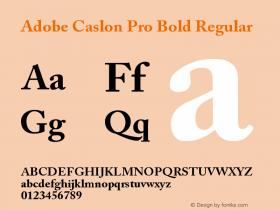 Adobe Caslon Pro Bold Regular OTF 1.009;PS 001.000;Core 1.0.27;makeotf.lib1.3.1 Font Sample