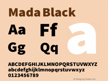Mada Black Version 0.2 Font Sample