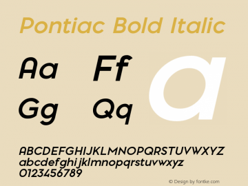 Pontiac Bold Italic 1.000;com.myfonts.easy.la-goupil.pontiac.bold-italic.wfkit2.version.4t8L Font Sample