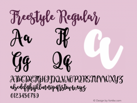Freestyle Regular Unknown Font Sample