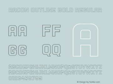 Racon Outline Bold Font,Racon-OutlineBold Font,Racon Font|Racon
