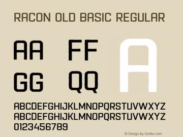 Racon Old Basic Font,Racon-OldBasic Font,Racon Font|Racon-OldBasic