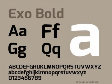 Exo Bold Version 1.00 Font Sample
