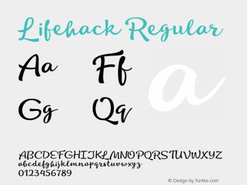 Lifehack Regular 1.000 Font Sample