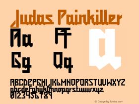 Judas Painkiller Version 2.0 Font Sample