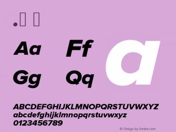 .  Version 2.003 Font Sample