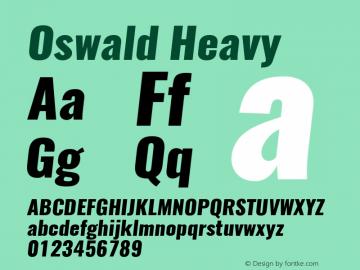 Oswald Heavy 3.0; ttfautohint (v1.4.1) Font Sample