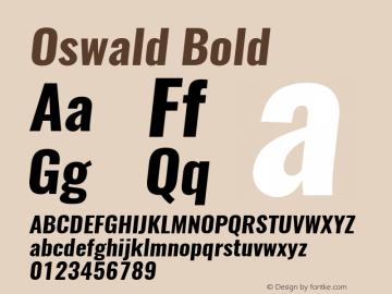 Oswald Bold 3.0; ttfautohint (v1.4.1) Font Sample