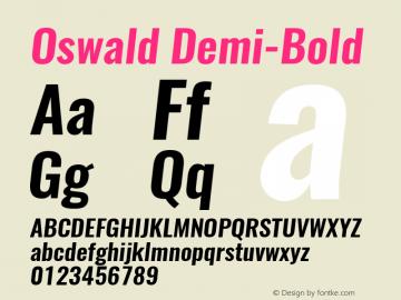 Oswald Demi-Bold 3.0; ttfautohint (v1.4.1) Font Sample