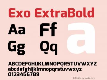 Exo ExtraBold Version 1.00 Font Sample