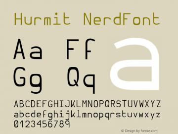Hurmit NerdFont Version 1.21;Nerd Fonts 0.6. Font Sample