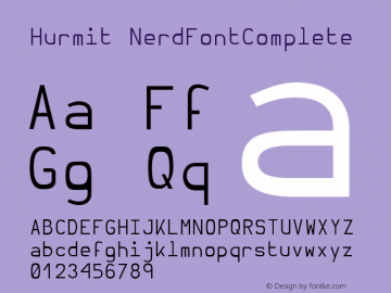 Hurmit NerdFontComplete Version 1.21;Nerd Fonts 0.6. Font Sample