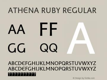 Athena Ruby Regular Version 1.00 build 018 Font Sample