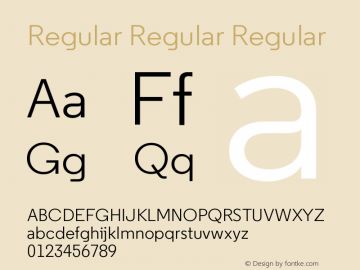 Regular Regular Regular 2.100 Font Sample