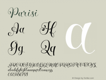Parisi ☞ Version 1.000 2015 initial release;com.myfonts.easy.eurotypo.parisi.regular.wfkit2.version.4vvp图片样张