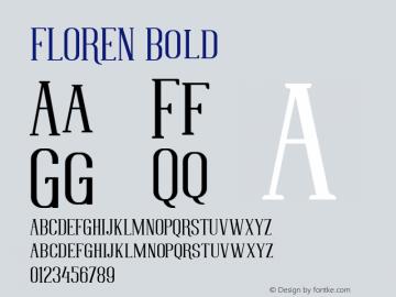 FLOREN Bold Version 1.000图片样张