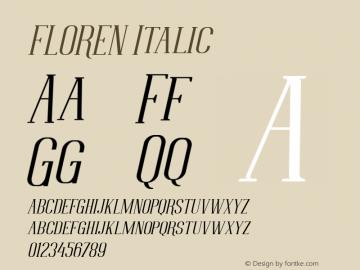 FLOREN Italic Version 1.000图片样张