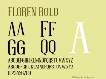 FLOREN Bold 1.000图片样张
