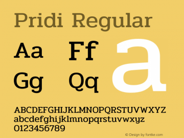 Pridi Regular Version 1.000;PS 001.000;hotconv 1.0.88;makeotf.lib2.5.64775 Font Sample