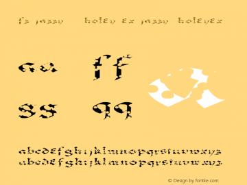 FZ JAZZY 33 HOLEY EX JAZZY33HOLEYEX Version 1.000 Font Sample