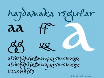 Hajdamaka Regular Version 1.000 2007 initial release Font Sample