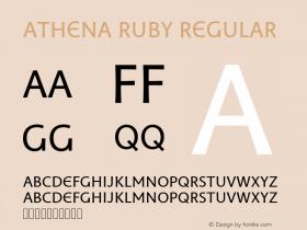 Athena Ruby Regular Version 0.80 build 017 Font Sample