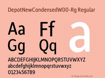 DepotNewCondensedW00-Rg Regular Version 2.00 Font Sample