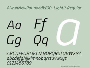 AlwynNewRoundedW00-LightIt Regular Version 1.00 Font Sample