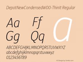 DepotNewCondensedW00-ThinIt Regular Version 2.00 Font Sample
