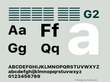 系统字体 粗体 G2 11.0d60e1 Font Sample