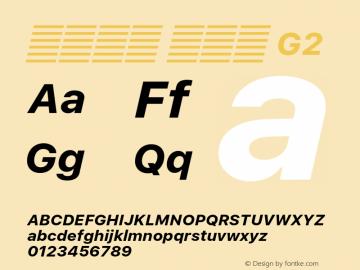 系统字体 粗斜体 G2 11.0d60e1 Font Sample