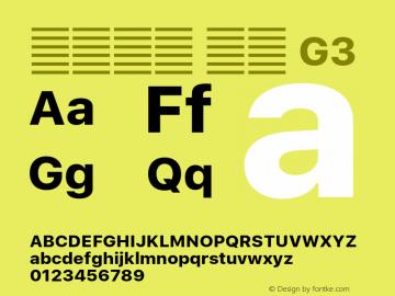 系统字体 粗体 G3 11.0d60e1 Font Sample