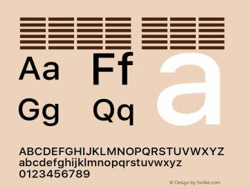 系统字体 中等体 11.0d60e1 Font Sample