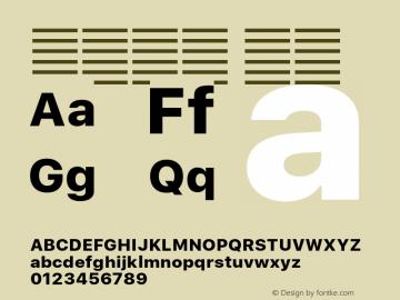 系统字体 粗体 11.0d60e1 Font Sample