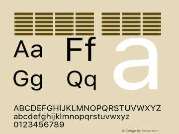 系统字体 常规体 11.0d60e1 Font Sample