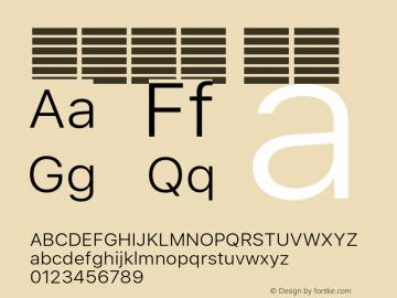 系统字体 细体 11.0d60e1 Font Sample