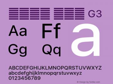 系统字体 常规体 G3 11.0d60e1 Font Sample
