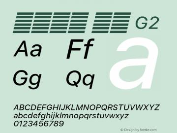 系统字体 斜体 G2 11.0d60e1 Font Sample