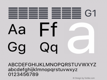 系统字体 常规体 G1 11.0d60e1 Font Sample