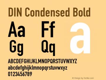 DIN Condensed Bold 9.0d2e1图片样张