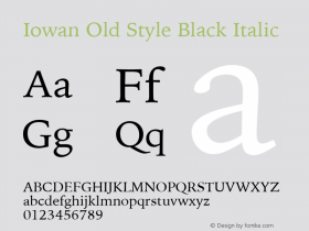 Iowan Old Style Black Italic 11.0d2e1图片样张