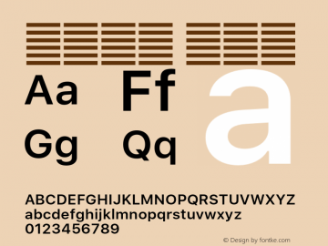 系统字体 半粗体 11.0d60e1 Font Sample